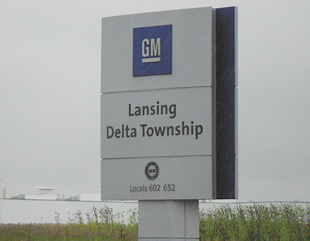GM Lansing Delta Township Brochure Display